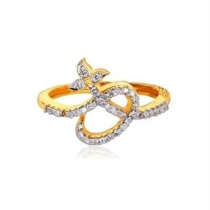 Avsar Real Gold And Diamond Valentine Ring Avr165