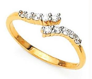Avsar Real Gold And Diamond Ten Stone Fancy Ring
