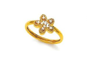 Avsar Real Gold And Diamond Fair Ring Avr045