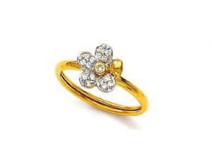 Diamond Rings - Avsar Real Gold and Diamond Fine Ring AVR046