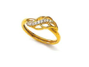 Avsar Real Gold And Diamond Seemly Ring Avr050