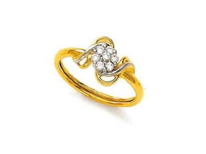 Avsar Real Gold And Diamond Devine Ring Avr051