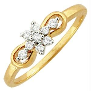 Avsar Real Gold And Diamond Beautiful Ring Avr057
