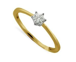 Avsar Real Gold And Diamond Star Shape Ring