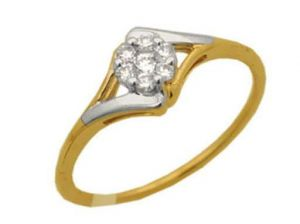 Avsar Real Gold And Diamond Enclosed Shape Ring