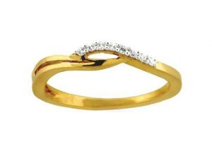 Avsar Real Gold And Diamond Bridge Type Ring