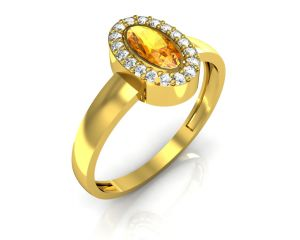 Ag Real Diamond Kerla Ring Agger003y