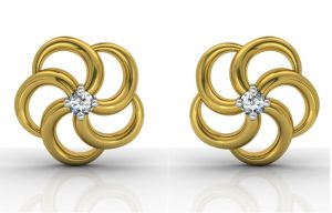 Triveni,Platinum,Jagdamba,Ag,Pick Pocket,Sinina,Estoss Diamond Jewellery - Ag Real Diamond  Priya  Earring AGSE0005Y