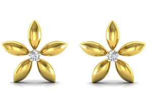 triveni,platinum,jagdamba,ag,estoss Diamond Earrings - Ag Real Diamond  Aarti  Earring AGSE0030Y