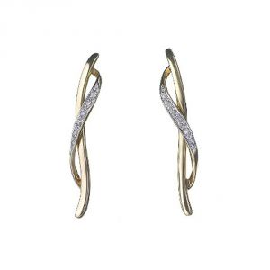 Ag Real Diamond Patana Earring Agse0078a