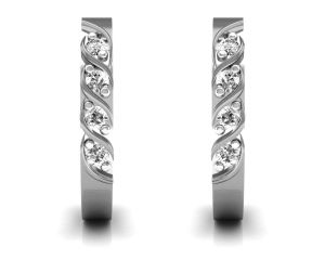Ag Real Diamond Sonam Earring Agse0127w