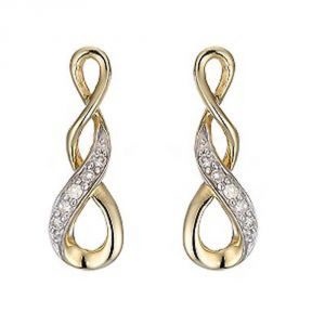 Ag Real Diamond Patana Earring Agse0137a