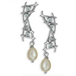 Ag Real Diamond Minal Earring Agse0170a