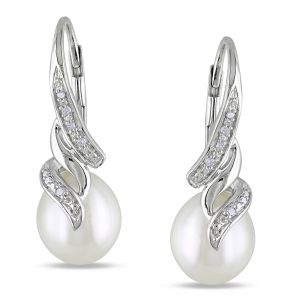Platinum,Unimod,Ag,Hoop,Gili,Port,Pick Pocket,N gal Women's Clothing - Ag Real Diamond Fashion Earring AGSE0212