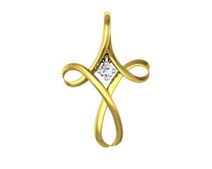 pick pocket,mahi,parineeta,soie,asmi,sangini,ag Silvery Jewellery - Ag Real Diamond Gaytri Pendant AGSP0039Y
