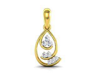 Ag Silver Pendant Sets - Ag Real Diamond  deepika Pendant  AGSP0064Y