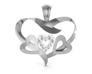 Ag Silver Pendant Sets - Ag Real Diamond Karnataka Pendant  AGSP0091W