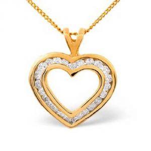 Silver Pendant Sets - Ag Real Diamond Sanchita Pendant AGSP0097A