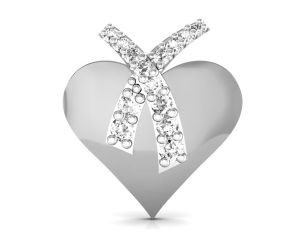 Ag Silver Pendant Sets - Ag Real Diamond Kalpana Pendant  AGSP0104W