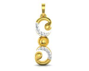Ag Silver Pendant Sets - Ag Real Diamond Monika Pendant  AGSP0124Y