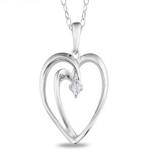 Ag Real Diamond Fashion Pendant Agsp0163