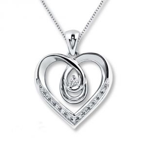 Ag Real Diamond Fashion Pendant Agsp0166
