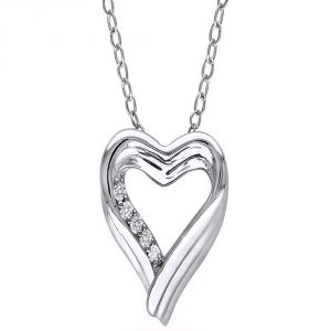 Ag Real Diamond Fashion Pendant Agsp0177