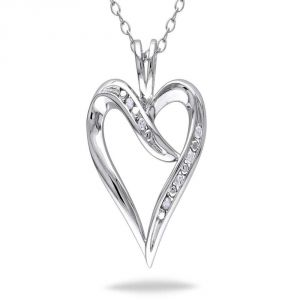 Ag Real Diamond Fashion Pendant Agsp0178