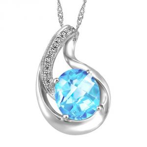 Ag Real Diamond Fashion Pendant Agsp0182