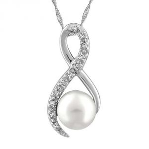 Ag Real Diamond Fashion Pendant Agsp0184