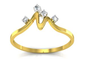 Platinum,Ivy,Unimod,Ag,Jomso Women's Clothing - Ag Real Diamond Khushboo Ring  AGSR0009Y