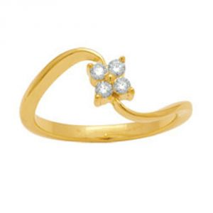 Ag Silver & Real Diamond Diksha Ring ( Code - Agsr0012n )