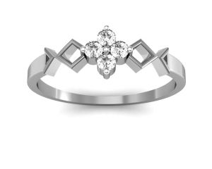 Ag Silver Rings - Ag Real Diamond Katrina Ring  AGSR0014W