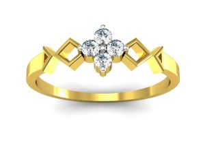 Ag Real Diamond Mrunali Ring Agsr0014y