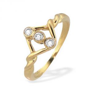 Ag Silver & Real Diamond Deepashri Ring ( Code - Agsr0018n )