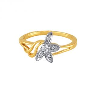 Ag Silver & Real Diamond Priya Ring ( Code - Agsr0024n )