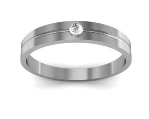 Ag Silver Rings - Ag Real Diamond Supriya Ring  AGSR0049W