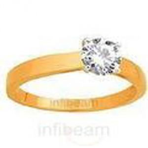 Ag Real Diamond Kajal Ring Agsr0064a