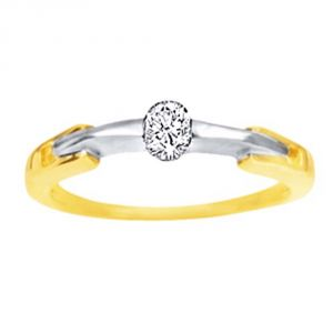 Ag Real Diamond Sonal Ring Agsr0068a
