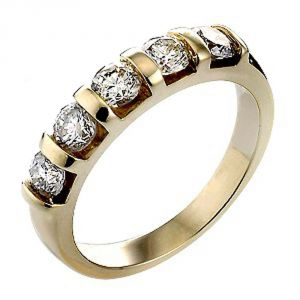 Ag Real Diamond Kinjal Ring Agsr0082a