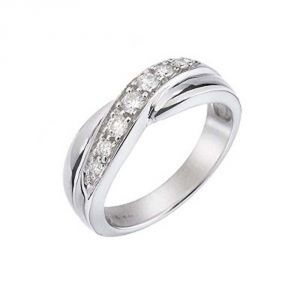 Ag Real Diamond Poonam Ring Agsr0093a