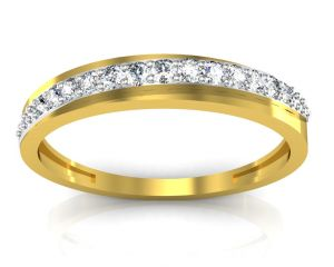 Ag Real Diamond Telagu Ring Agsr0103y