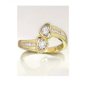 Ag Silver & Real Diamond Anjali Ring ( Code - Agsr0110n )