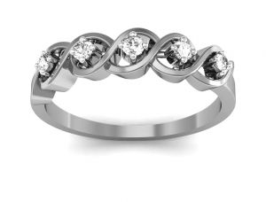 Ag Real Diamond Hema Ring Agsr0143w