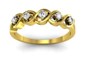 Ag Real Diamond Isha Ring Agsr0143y