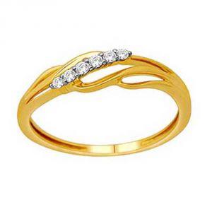 Ag Silver & Real Diamond Asmita Ring ( Code - AGSR0148N )