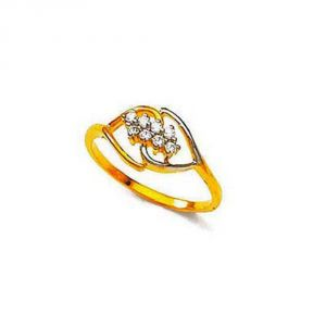 Ag Silver & Real Diamond Sachi Ring ( Code - Agsr0166n )