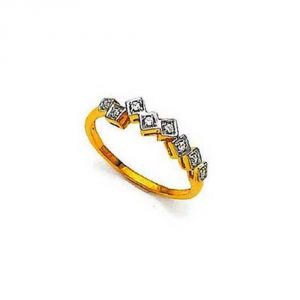 Ag Silver & Real Diamond Swapna Ring ( Code - Agsr0167n )