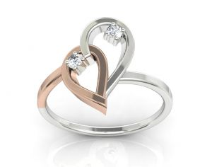 Ag Real Diamond Minal Ring Agsr0203w