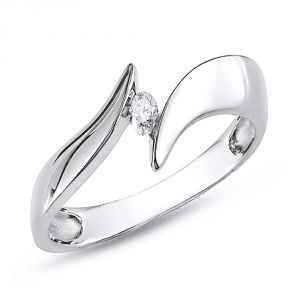 Ag Real Diamond Fashion Ring Agsr0212